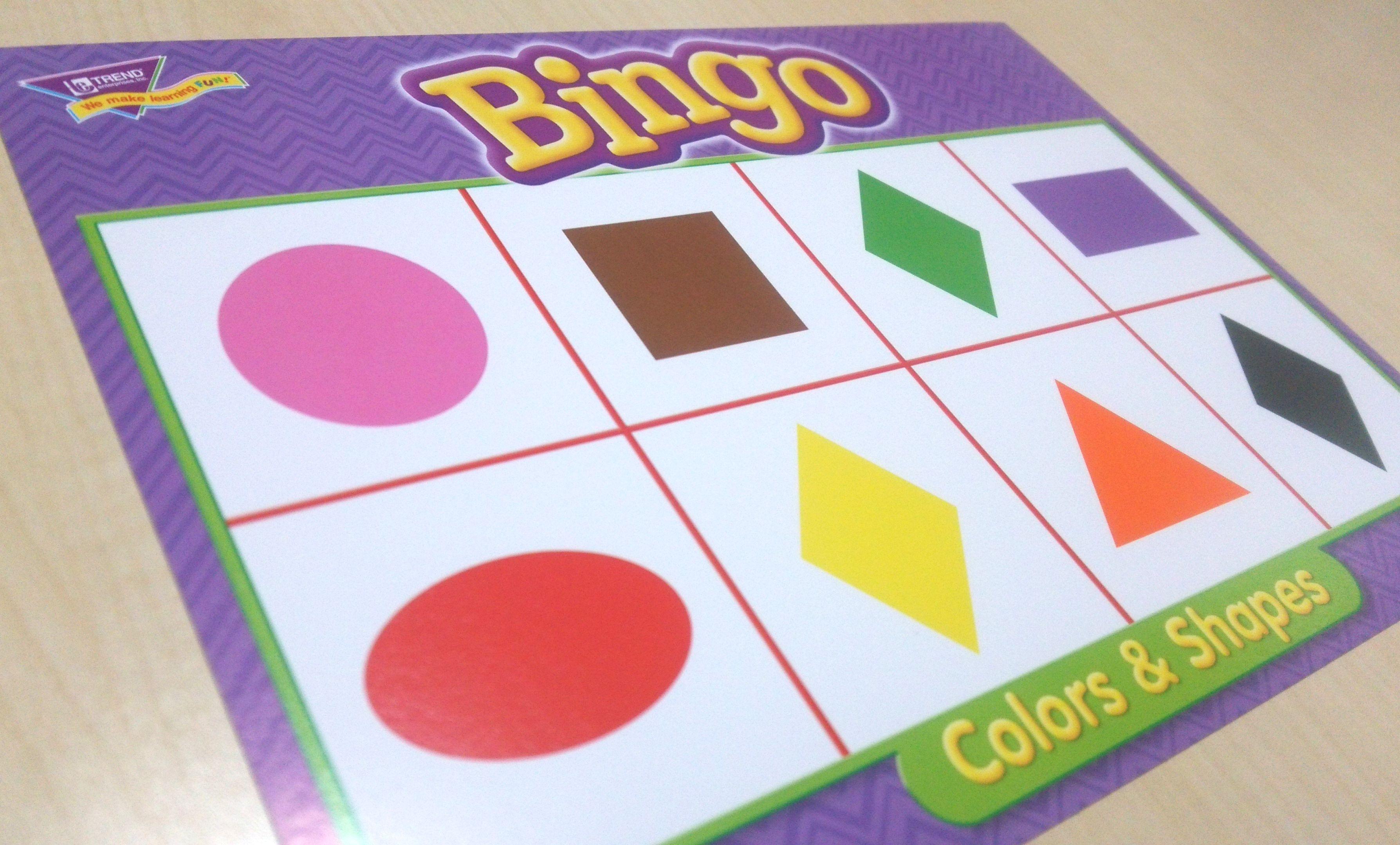 """色・形のマッチングや""""なかまわけ""""遊びができるColors & Shapes Bingo Game"""