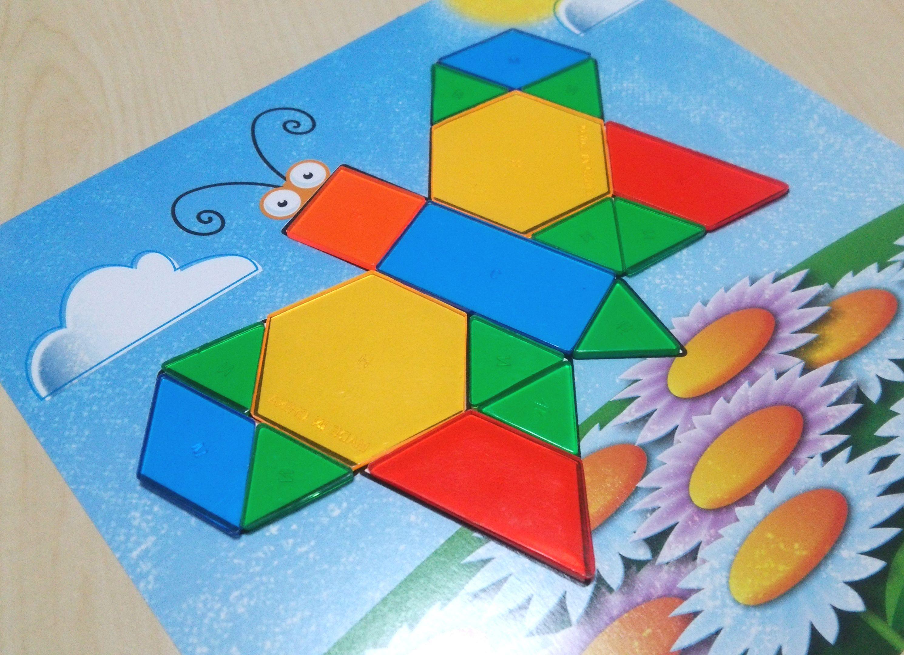 平面図形の合成の基本が身につくパズル『Learning Resources Shapes – Don't Bug Me』