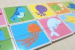2~3歳児さんのレッスンで使っている『絵合わせカード』4種
